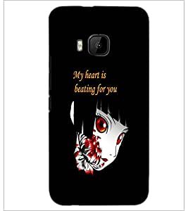 PrintDhaba Quote D-4196 Back Case Cover for HTC ONE M9S (Multi-Coloured)