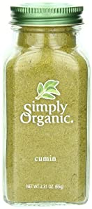 Simply Organic Cumin Seed Ground Certified Organic, 2.31-Ounce Container