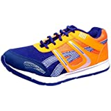 Adler Men's Running Sports Shoes Synthetic Leather And Lightweight Comfortable Sole (Orange)