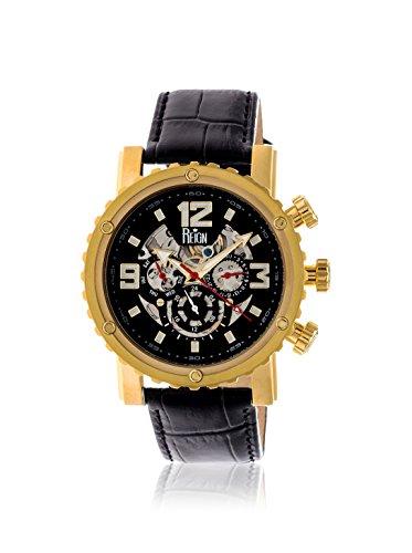 Reign Men's REIRN1906 Alpin Gold-Tone/Dark Brown Leather Watch