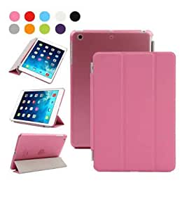 TECH SHIELD Leather Smart Case Flip Cover for Ipad AIR (PINK)