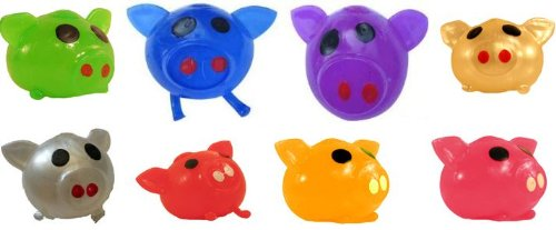 Splat Ball Novelty Squishy Toy Assorted Colors Pig-Pack of 3