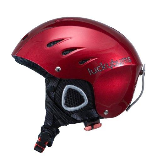 Lucky Bums Snow Sport Helmet with Fleece Liner, Red, Medium