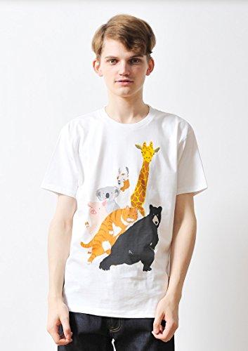 ( グラニフ ) graniph ベーシック Tシャツ / チューチュー アニマルズ ( ホワイト ) S