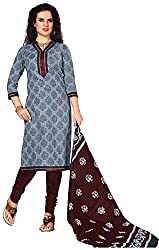 Fashionx Multi-color cotton printed unstitched dress material