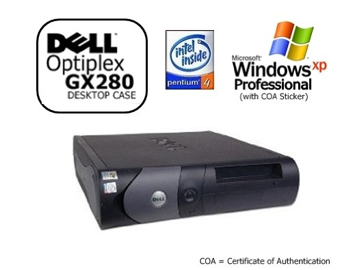 Dell Optiplex GX280 SFF Desktop PC, Pentium 4 HT 3.4GHz, 1024MB Ram Memory, 40GB Hard Drive, DVD/CD-RW Combo Drive, Genuine Windows XP Professional SP3