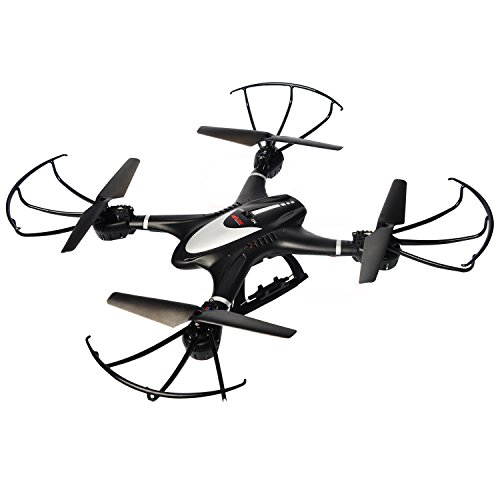 MJX X401H FPV Quadcopter Drone with Altitude-Hold EASY TO FLY RC Real Time Transmission HD Camera RTF Explorer Copter, Left and Right Hand Switch Mode Predator, Black