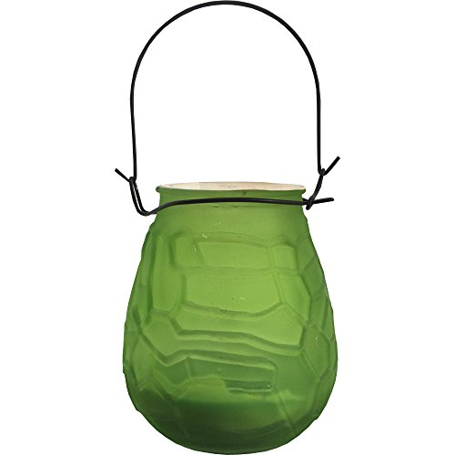Citonella Candle Pot with Handle In Green