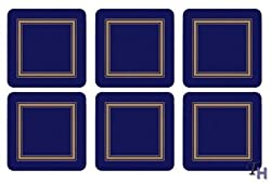 Pimpernel Classic Midnight Blue Coasters - Set of 6