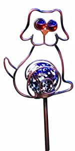 Moonrays 92212 Solar Powered Dog Landscape Stake Light