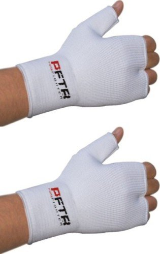RDX Boxing Fist hand inner gloves Muay Thai Wraps White, Medium