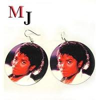 Michael Jackson マイケル フォトプリント ピアス ラウンド