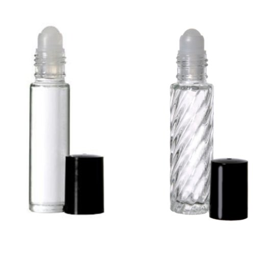 2 Roll-on Refillable Glass Perfume Bottle Purse