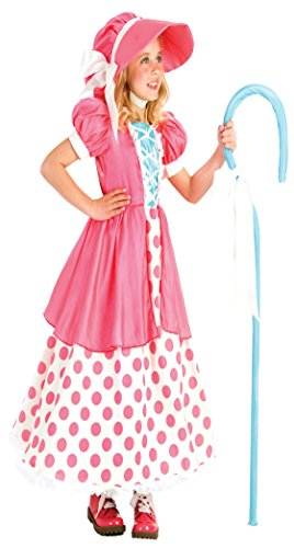 Girls Polka Dot Bo Peep Kids Child Fancy Dress Party Halloween Costume