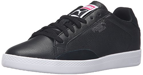 PUMA Women's Match LO Basic Sports Wn's Tennis Shoe, Puma Black/Puma Black, 8.5 M US