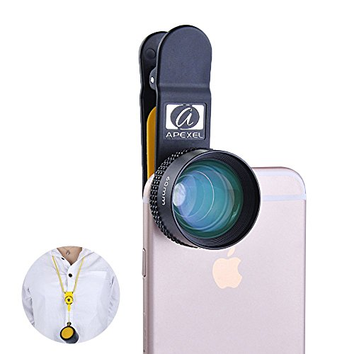 Apexel-HD-60mm-Portrait-Camera-Lens-with-Neck-Lanyard-and-Storage-Case-for-iPhone-Samsung-Phones-Tablets-Perfect-for-Street-Portraits-Adventure-Photos-and-Travel-No-Distortion-No-Dark-Corner