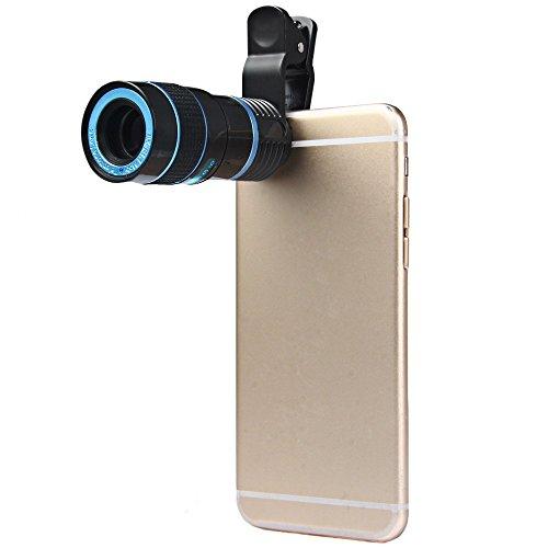 LIEQI LQ-007 スマホ用望遠レンズ  8Xズーム  クリップ式  望遠レンズセット iPhone6 plus iPhone6などスマートフォン対応 スポーツ観戦 運動会 観劇などで大活躍 ブルー