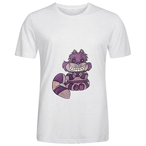 Cheshire Cat Men O Neck Slim Fit Shirt White
