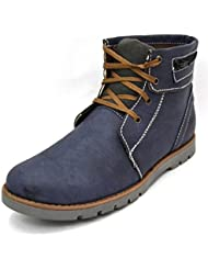 Zoot24 Men's Blue Faux Leather Boots