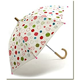 apple motif kids umbrella