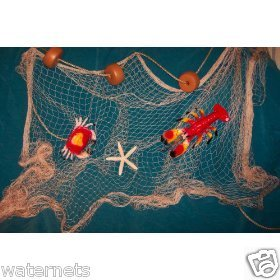 10 X 9 Fishing Net, Fish Net, Netting, Crab, Lobster, Starfish, Nautical Decor Display