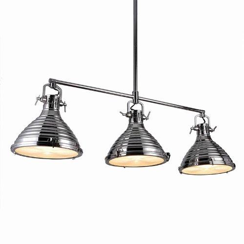 Bromi Design B-Km030-3 Cabrini 3 Light Multi Light Pendant, Nickel