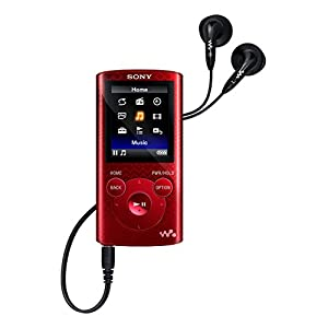 Sony NWZE384 8GB Walkman Video MP3 Player - Red