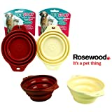 Rosewood Pet Stuff Collapsible Travel Bowl (Colour May Vary)