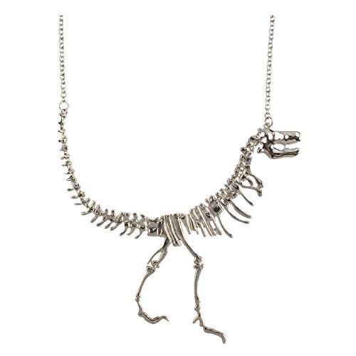jane-stone-color-silver-dinosaur-vintage-necklace-short-statement-fn1415-silver