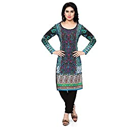 Vaamsi Women's PolyCotton Unstitched Kurti Fabric(KFL1001_Multi-Coloured_Free Size)