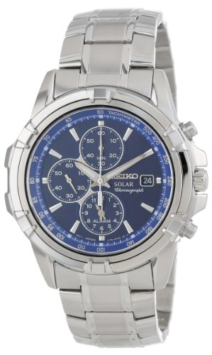 Seiko Men's SSC141 Stainless Steel Solar Watch