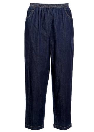koret damen freizeithosen jeans hose gummizug gerades bein groessen 41. Black Bedroom Furniture Sets. Home Design Ideas