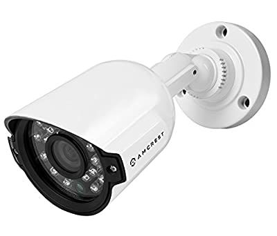 Amcrest AMC960HBC36-W 800+ TVL Bullet Weatherproof IP66 Camera with 65' IR LED Night Vision (White),Power supply and coaxial video cable are not included