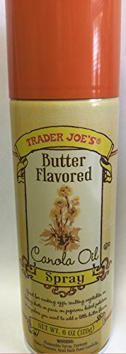 Trader Joe's Butter Flavored Canola Oil Spray 6oz (One Can) (Spray Popcorn Butter compare prices)