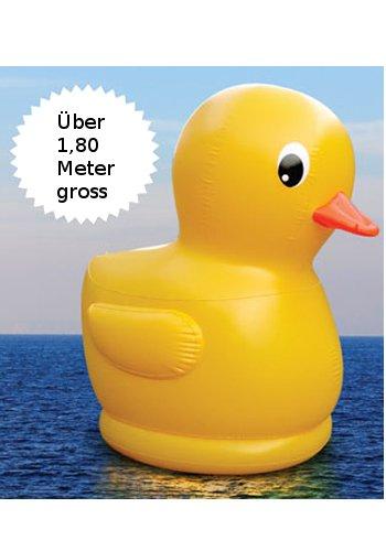 Aufblasbare XXL Ente – 1,80 m gross günstig bestellen