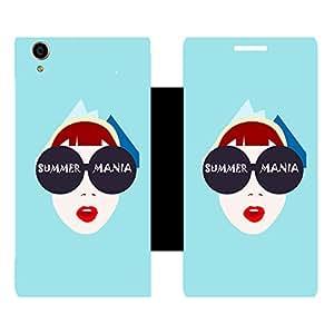 Skintice Designer Flip Cover with Vinyl wrap-around for Karbonn Machone Titanium S310, Design - summer mania