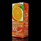 エルビー フルーツセレクション オレンジ100%ジュース 200ml 紙パック×12本 ランキングお取り寄せ