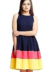 Rudraksh Fashion Women's Faux Georgette Unstitched Kurti (TRIpati_adorn_color01_Free Size_Multi-Coloured)