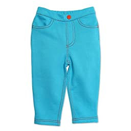 Zutano Baby-girls Infant Terry Matchstick Jean, Pool, 12 Months