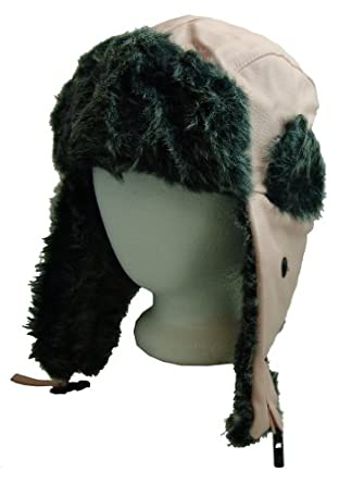 c2d0be15116348 FUROCITY HATS Faux Leather And Polyester Fur TrapperBomber Hat Pink Clothing