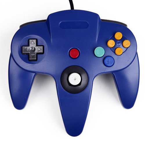 HDE Nintendo 64 Classic Wired Controller (Blue)