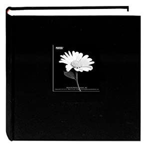 Pioneer 200 Pocket Fabric Frame Cover Photo Album, Deep Black