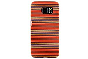 HYAIT SAMSUNG GALAXY S6EDGE MZ Series Weaving Pattern Polycarbonate (PC) + Textile Surface Ultra Slim Fit Hard Case Cover For GALAXY S6EDGE - ORANGE