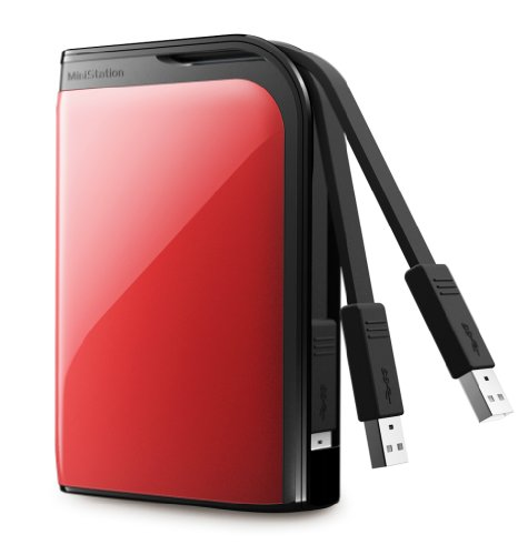 Buffalo MiniStation Extreme 500GB USB 3.0 Slim 2.5 inch Portable Hard Drive - Red Black Friday & Cyber Monday 2014