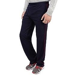 Dernier Wear Men's Cotton Track Pants Blue-M