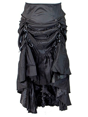 Plus-Size-Black-Gothic-Steampunk-Burlesque-3-Way-Lace-Up-Skirt