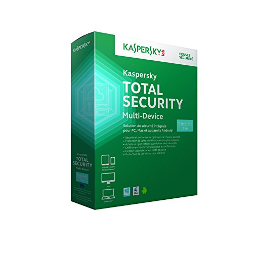Kaspersky Total Security multi-device (5 postes, 1 an)