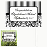 Personalized Classic Black   White Yard Sign Party Decorations   Yard Stakes