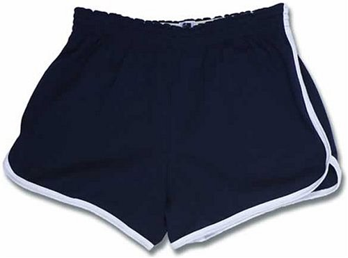 Buy Adult Womens Retro Cut Sport Shorts Navy Blue