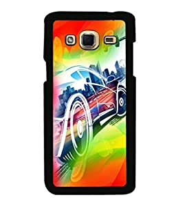 printtech Superfast car Back Case Cover for Samsung Galaxy J3 Pro